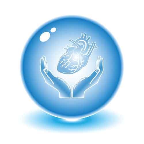 Protection of heart. Vector heart illustration. Simply change. Other ...